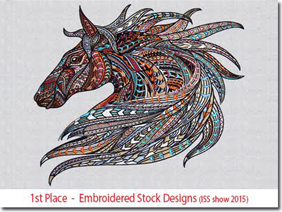 1st Place - Embroidered Stock Design (ISS show 2015)